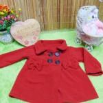 jaket bayi blazer baby mantel bayi hangat lembut 0-18bulan polos merah