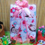 Kado Lahiran Paket Kado Bayi Baby Gift Box Selimut Carter Plus Baby Sock Pinky Monkey