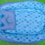 Kado Lahiran Terbaik Murah Baby Nest Kasur Bayi BONUS BANTAL PEYANG motif baby blue