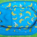 Kado Lahiran Terbaik Murah Baby Nest Kasur Bayi BONUS BANTAL PEYANG motif banana blue
