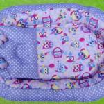 Kado Lahiran Terbaik Murah Baby Nest Kasur Bayi BONUS BANTAL PEYANG motif purple owl