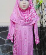 PALING MURAH Baju Muslim Gamis Anak Batita Perempuan Rainbow Pink Adem 2-3th Plus Hijab