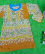 PALING MURAH Baju Muslim Gamis Anak Bayi Perempuan Rainbow Kuning Adem 0-12bulan Plus Hijab