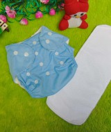 PLUS INSERT clodi cloth diapers popok kain bayi biru anti bocor murmer bagus