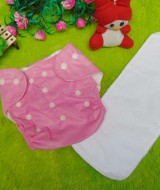 PLUS INSERT clodi cloth diapers popok kain bayi pink anti bocor murmer bagus