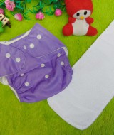 PLUS INSERT clodi cloth diapers popok kain bayi ungu anti bocor murmer bagus