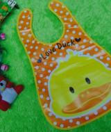 Slabber Plastic Celemek Bayi Slaber Plastik Waterproof Baby Bib Apron Tadah Liur motif love duck