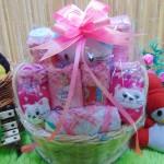 TERLARIS EKSKLUSIF paket kado bayi baby gift parcel bayi parcel kado bayi kado lahiran rotan bulat pink