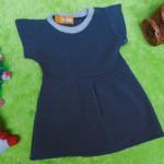baju bayi perempuan cewek 0-6bulan dress alisa abu