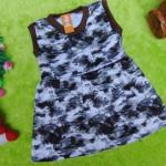 baju bayi perempuan cewek 0-6bulan dress alisa sketch abu
