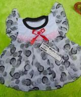 baju pesta dress baju bayi perempuan 0-12bulan Bulat Abu 27 bahan halus nyaman dipakai,lebar dada 20cm,panjang ke bawah 35cm,bikin dedek bayi tambah cantik