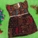 dress baju batik bayi anak perempuan cewek 0-12bulan tali bulat motif ayu