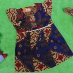 dress baju batik bayi anak perempuan cewek 0-12bulan tali bulat motif kembang navy-04