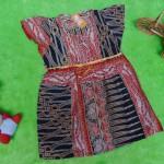 dress baju batik bayi anak perempuan cewek 0-12bulan tali bulat motif parang jarum