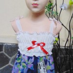 dress hawai tali pundak bayi newborn perempuan 0-6bulan motif navy 27 lebar dada sebelum melar 17cm,panjang 32cm,bikin dedek babyi makin cantik