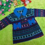 jaket bayi blazer baby mantel bayi hangat lembut scandinavian blue 1-2 tahun