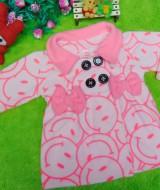 foto utama - jaket bayi blazer baby mantel bayi hangat lembut smiley peach 1-2 tahun (1)