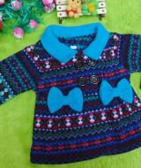 foto utama - jaket bayi blazer baby mantel bayi newborn hangat lembut scandinavian blue 0-12bulan (2)