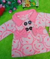 jaket bayi blazer baby mantel bayi newborn hangat lembut smiley peach 0-12bulan (2)
