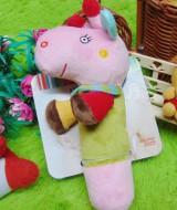 kado hadiah bayi baby gift mainan edukasi boneka rattle stick berbunyi JJ OVCE kuda nil