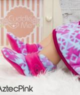 kado sepatu bayi prewalker baby newborn 0-6bulan booties cuddleme motif aztec pink