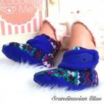 kado sepatu bayi prewalker baby newborn 0-6bulan booties cuddleme motif scandinavian blue