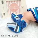 kado sepatu bayi prewalker baby newborn 0-6bulan booties cuddleme motif stripe blue