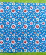 kain bedong kaos jumbo besar serbaguna 2in1 motif bunga biru