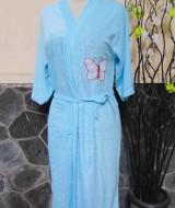kimono handuk jubah mandi dewasa JUMBO Biru Muda 50 lebar dada 54cm,panjang ke bawah 98cm,cocok dipakai harian maupun saat piknik ke kolam renang,waterpark,atau waterboom