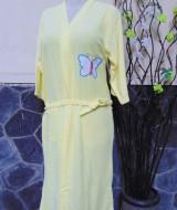 kimono handuk jubah mandi dewasa JUMBO Kuning 50 lebar dada 54cm,panjang ke bawah 98cm,cocok dipakai harian maupun saat piknik ke kolam renang,waterpark,atau waterboom