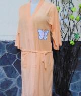 kimono handuk jubah mandi dewasa JUMBO Orange 50 lebar dada 54cm,panjang ke bawah 98cm,cocok dipakai harian maupun saat piknik ke kolam renang,waterpark,atau waterboom
