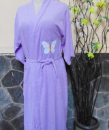 kimono handuk jubah mandi dewasa JUMBO Ungu50 lebar dada 54cm,panjang ke bawah 98cm,cocok dipakai harian maupun saat piknik ke kolam renang,waterpark,atau waterboom