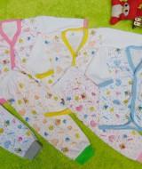 paket hemat 3set setelan baju bayi 0-6bulan panjang baby new born mix warna list