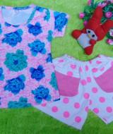 setelan kaos bayi newborn perempuan 0-12bulan bunga hotpants polka pink 31 bahan kaos lembut,lebar dada 22cm,panjang baju 32cm,pjg celana20cm,silakan dicocokkan dg uk baby krn usia hny estimasi