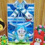 FREE KARTU UCAPAN Kado Lahiran Paket Kado Bayi Baby Gift Box Doraemon Biru 2in1
