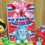 FREE KARTU UCAPAN Kado Lahiran Paket Kado Bayi Baby Gift Box Doraemon Merah 2in1