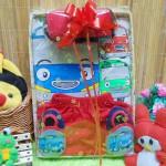 utama FREE KARTU UCAPAN Kado Lahiran Paket Kado Bayi Baby Gift Box Little Bus Tayo Merah 77 terdiri dari setelan kaos bayi tayo,sepatu tayo,boneka tayo