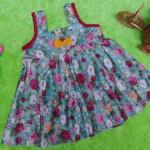 Dress Baju Anak Bayi Cewek Perempuan 0-12bulan Alisa Bunga Rose Tosca Cantik