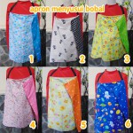 FOTO UTAMA Kado Lahiran Bayi Nursing Cover Penutup Menyusui 2 In 1 Apron Motif Bolak Balik Celemek