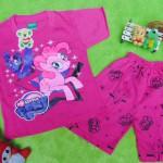 Setelan baju kaos karakter little pony anak bayi perempuan L 6-18bulan