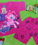 Setelan baju kaos karakter little pony anak bayi perempuan M 0-12bulan