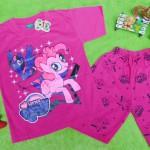 Setelan baju kaos karakter little pony anak perempuan cewek 5-6th