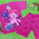 Setelan baju kaos karakter little pony anak perempuan cewek usia 4-5th