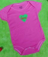 TERLARIS jumper carter ecer lengan pendek bayi cewek perempuan 12 bulan polos pink love hijau 22 bahan lembut nyaman adem menyerap keringat bayi