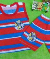 TERLARIS setelan kaos kutung bayi salur merah tom n jerry 22 lebar dada 25cm,pjg baju32cm,pjg clana 25cm,muat untuk usia 0-12 bulan,cocok untuk sehari-hari