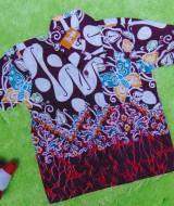 baju batik bayi anak laki-laki kemeja batik batita hem anak cowok uk 1-3th baju pesta motif parang kupu