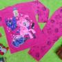 baju tidur piyama kaos panjang anak perempuan cewek 4-5th motif karakter little pony