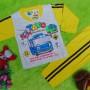 baju tidur piyama kaos panjang bayi 0-9bulan motif karakter little bus tayo bis kecil kuning