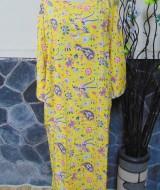 baju tidur santai batik longdress jumbo pias cantik daster lengan panjang wanita longdres baladewa motif kuning cantik