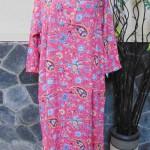 baju tidur santai batik longdress jumbo pias cantik daster lengan panjang wanita longdres baladewa motif peach cantik